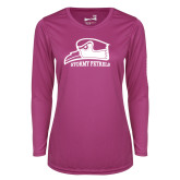 Ladies Syntrel Performance Raspberry Longsleeve Shirt-Athletic Logo