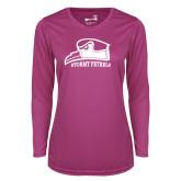 Ladies Syntrel Performance Raspberry Longsleeve Shirt-Athletic Logo