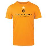 Adidas Gold Logo T Shirt-Primary University Logo
