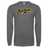 Charcoal Long Sleeve T Shirt-Oglethorpe Script