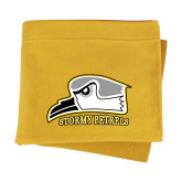 Gold Sweatshirt Blanket-Athletic Logo