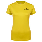 Ladies Syntrel Performance Gold Tee-Primary University Logo
