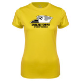 Ladies Syntrel Performance Gold Tee-Primary Athletics Logo
