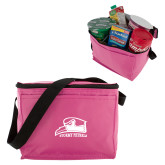 Six Pack Pink Cooler-Athletic Logo