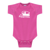 Fuchsia Infant Onesie-Athletic Logo