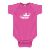 Fuchsia Infant Onesie-Primary Athletics Logo