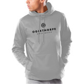 Under Armour Grey Armour Fleece Hoodie-Primary University Logo