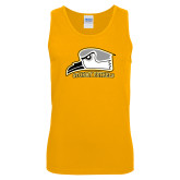 Gold Tank Top-Athletic Logo