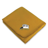 Gold Arctic Fleece Blanket-Athletic Logo