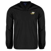 V Neck Black Raglan Windshirt-Primary Athletics Logo