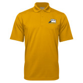 Gold Mini Stripe Polo-Athletic Logo