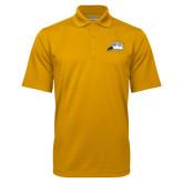 Gold Mini Stripe Polo-Athletic Logo