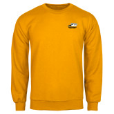 Gold Fleece Crew-Primary Athletics Logo