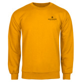 Gold Fleece Crew-Primary University Logo