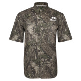 Camo Short Sleeve Performance Fishing Shirt-Athletic Logo