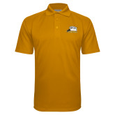 Gold Textured Saddle Shoulder Polo-Athletic Logo