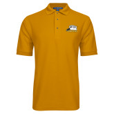Gold Easycare Pique Polo-Athletic Logo