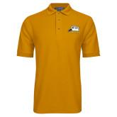 Gold Easycare Pique Polo-Athletic Logo