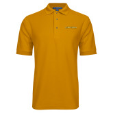 Gold Easycare Pique Polo-Stormy Petrels