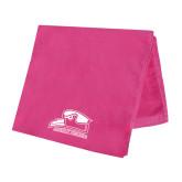 Pink Beach Towel-Athletic Logo
