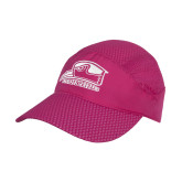 Pink Pace Setter Cap-Athletic Logo
