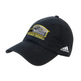 Adidas Black Slouch Unstructured Low Profile Hat-Athletic Logo