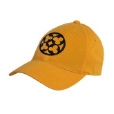Gold Twill Unstructured Low Profile Hat-Quatrefoil