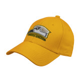 Gold Heavyweight Twill Pro Style Hat-Athletic Logo