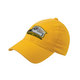 Gold OttoFlex Unstructured Low Profile Hat-Athletic Logo