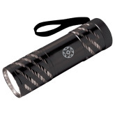 Astro Black Flashlight-Quatrefoil Engraved