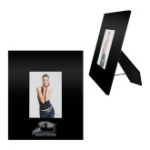 Black Metal 5 x 7 Photo Frame-Athletic Logo Engraved