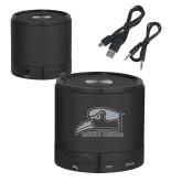 Wireless HD Bluetooth Black Round Speaker-Athletic Logo Engraved