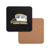 Hardboard Coaster w/Cork Backing-Athletic Logo