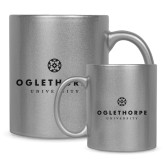 Full Color Silver Metallic Mug 11oz-Primary University Logo