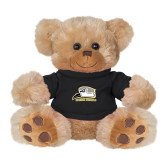 Plush Big Paw 8 1/2 inch Brown Bear w/Black Shirt-Athletic Logo