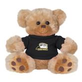 Plush Big Paw 8 1/2 inch Brown Bear w/Black Shirt-Athletic Logo