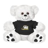 Plush Big Paw 8 1/2 inch White Bear w/Black Shirt-Athletic Logo