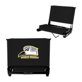 Stadium Chair Black-Athletic Logo