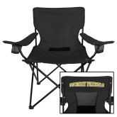 Deluxe Black Captains Chair-Athletic Logo