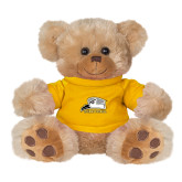 Plush Big Paw 8 1/2 inch Brown Bear w/Gold Shirt-Athletic Logo