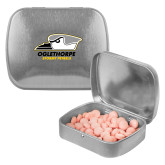 Silver Rectangular Peppermint Tin-Primary Athletics Logo