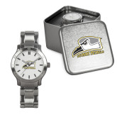 Mens Stainless Steel Fashion Watch-Athletic Logo