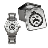 Mens Stainless Steel Fashion Watch-English Crest In Circle