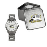Ladies Stainless Steel Fashion Watch-Athletic Logo