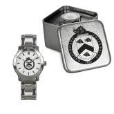 Ladies Stainless Steel Fashion Watch-English Crest In Circle