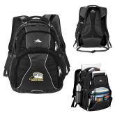 High Sierra Swerve Black Compu Backpack-Athletic Logo