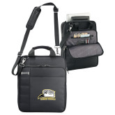 Kenneth Cole Black Vertical Checkpoint Friendly Messenger-Athletic Logo