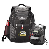 High Sierra Big Wig Black Compu Backpack-Athletic Logo