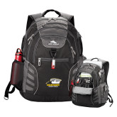 High Sierra Big Wig Black Compu Backpack-Primary Athletics Logo