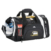 High Sierra Black 22 Inch Garrett Sport Duffel-Athletic Logo